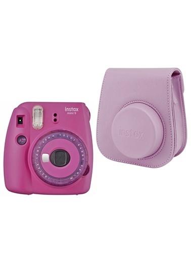 Fujifilm instax mini 9 Mor Fotoğraf Makinesi ve Deri Çanta Seti Mor